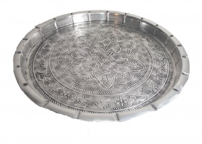 Large Silver Round Tray