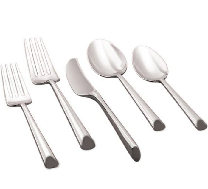 Silver Beveled Edge Flatware