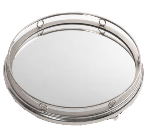 Silver Ring Mirror Cake Stand
