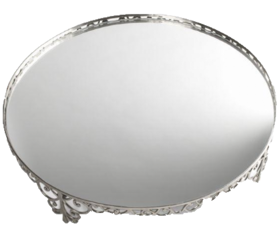 Silver Scroll Cake Stand Round
