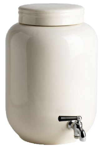Ivory Ceramic Beverage Dispenser