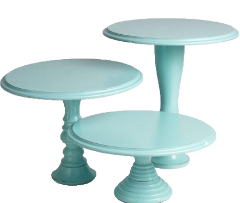 Antique Turquoise Cake Stand