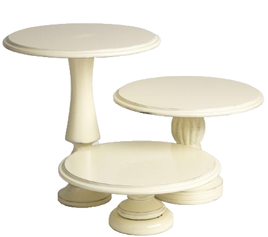 Antique Ivory Cake Stand