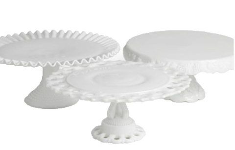 Assorted Milkglass Cake Stands