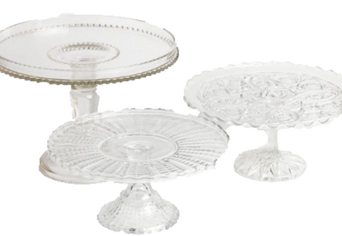 Assorted Vintage Crystal Cake Stands