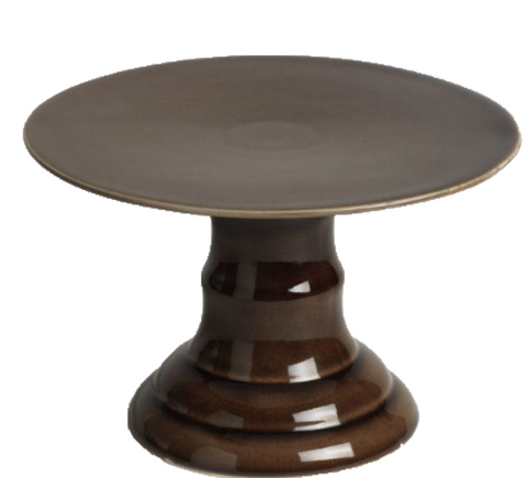 Brown Ceramic Cake Stand