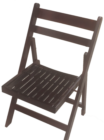 Mahogany Slatted Folding Chair