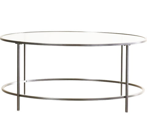 Silver Glass Round Coffee Table