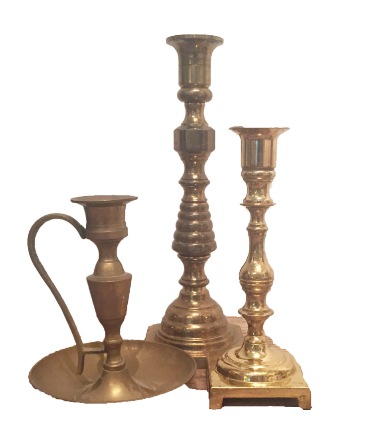 Assorted Gold Candlesticks