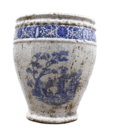 Ceramic Blue & White Urn