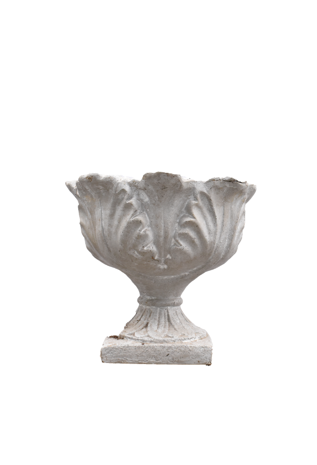 Grecian Inspired White Urn