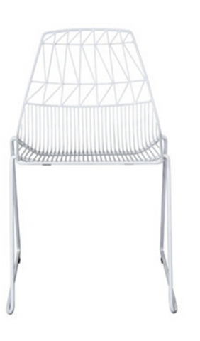 white linear metal dining chair-lucy chair-lucy dining chair-linear metal chair