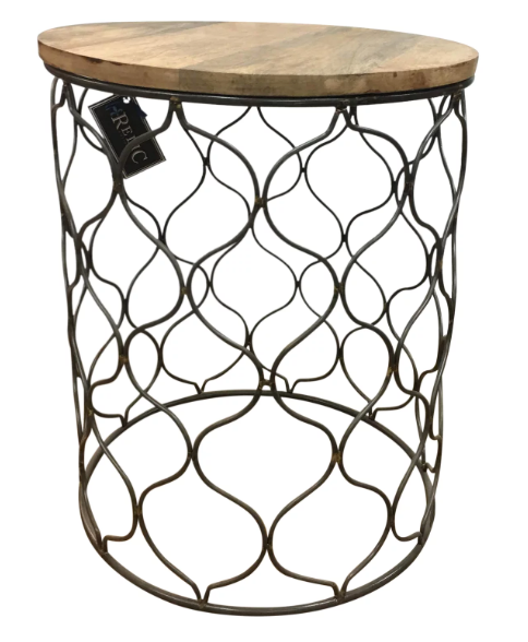 Iron Mango Top Side Table