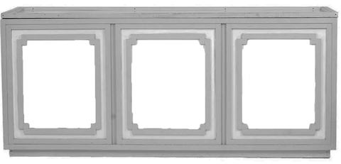 Grey and White Cutout Bar