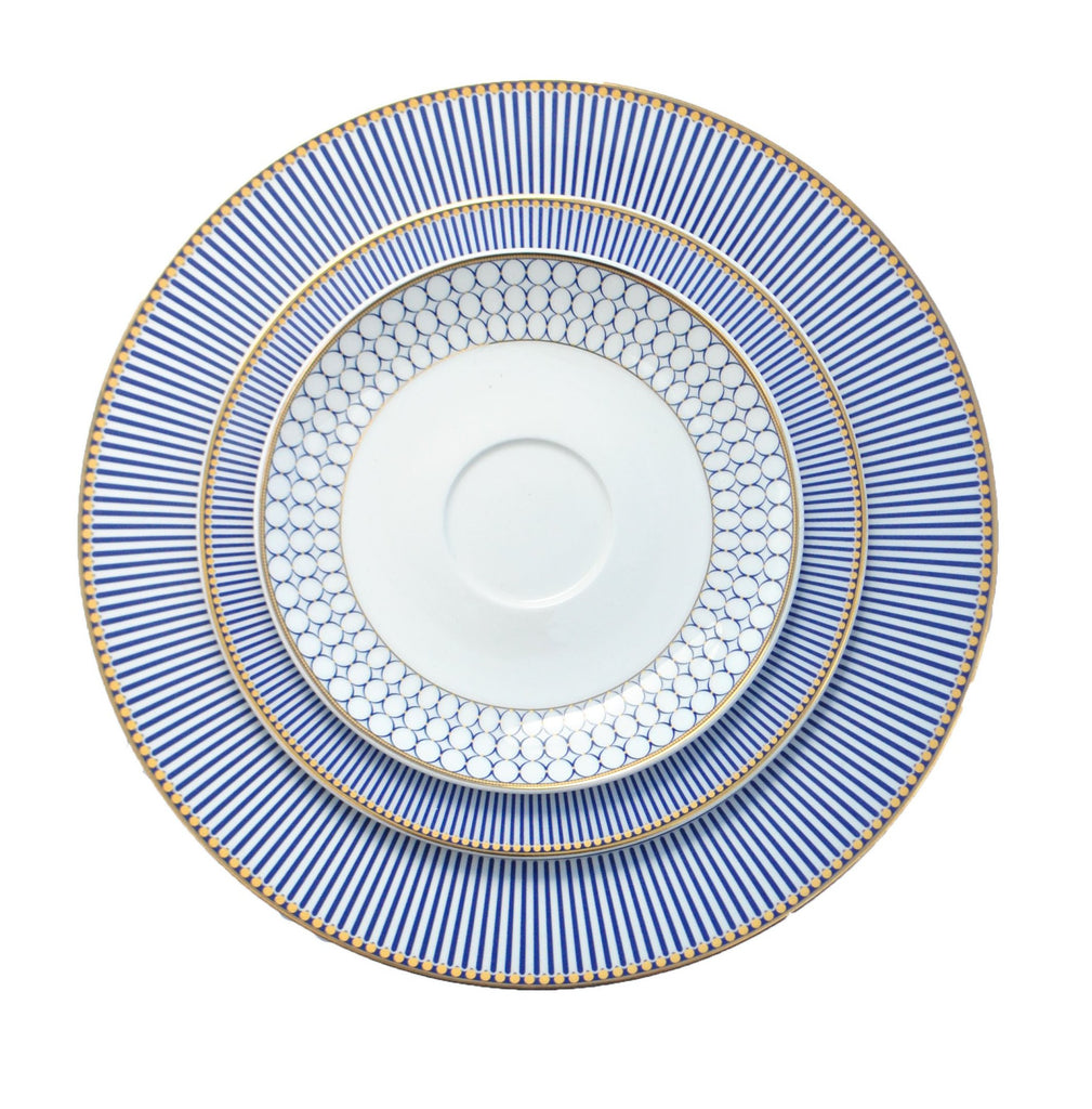 polished tabletop, polished, tabletop rentals, dishware, dishware rentals, plates, dishes, bowls, utensils, serving platters, china, navy and gold collection