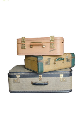 Assorted Vintage Suitcases