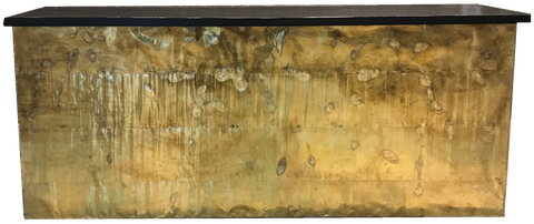 Distressed Brass Bar
