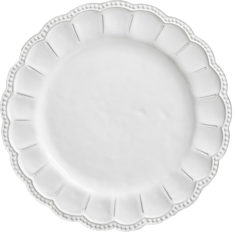 tuscan flower collection charger, white dinnerware, decor for rent, polished, ooh events, event rentals, wedding plates for rent, charleston event rentals