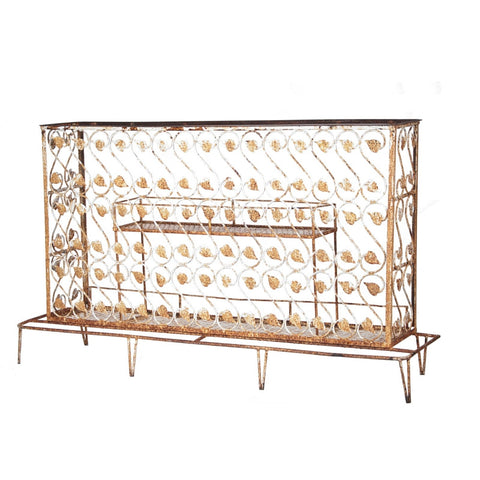 furniture rentals, ooh events, event rentals, rental, rentals, wedding rentals, bar, bar rental, bar service, bar for rent, vintage white iron bar, white bar, white iron bar, iron bar, vintage bar, vintage