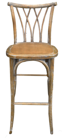 wheat barstool, wooden barstool, wooden rustic barstool with lines in the back