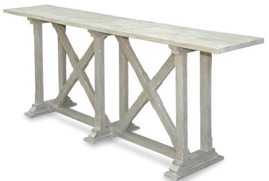Croix White Wash Sofa Table