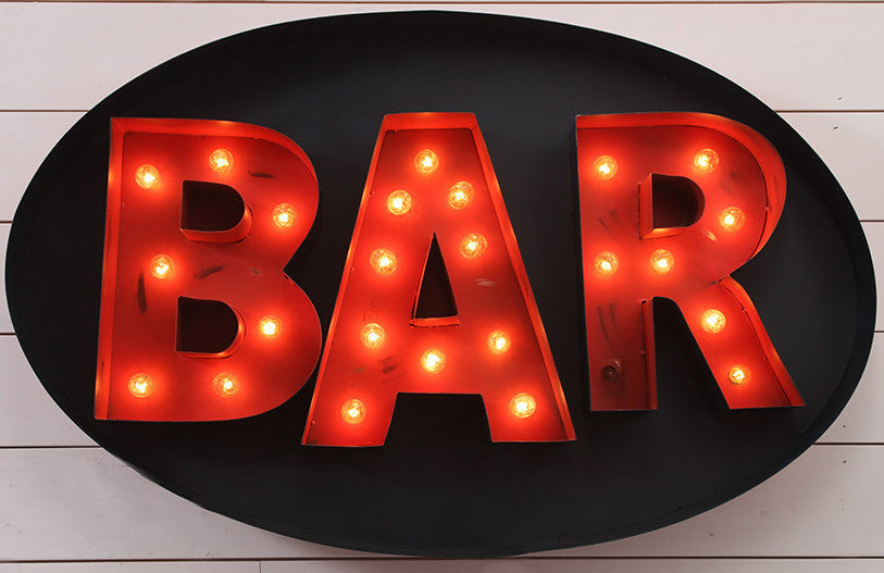 Oval Lighted Bar Sign