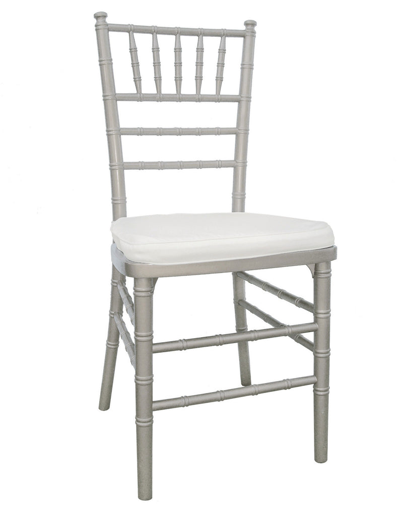 chair, ceremony seating, dining seating, wedding seating, chairs, rental chairs, chairs for rent, charleston, wedding rentals, silver chair, silver, silver chivari chair
