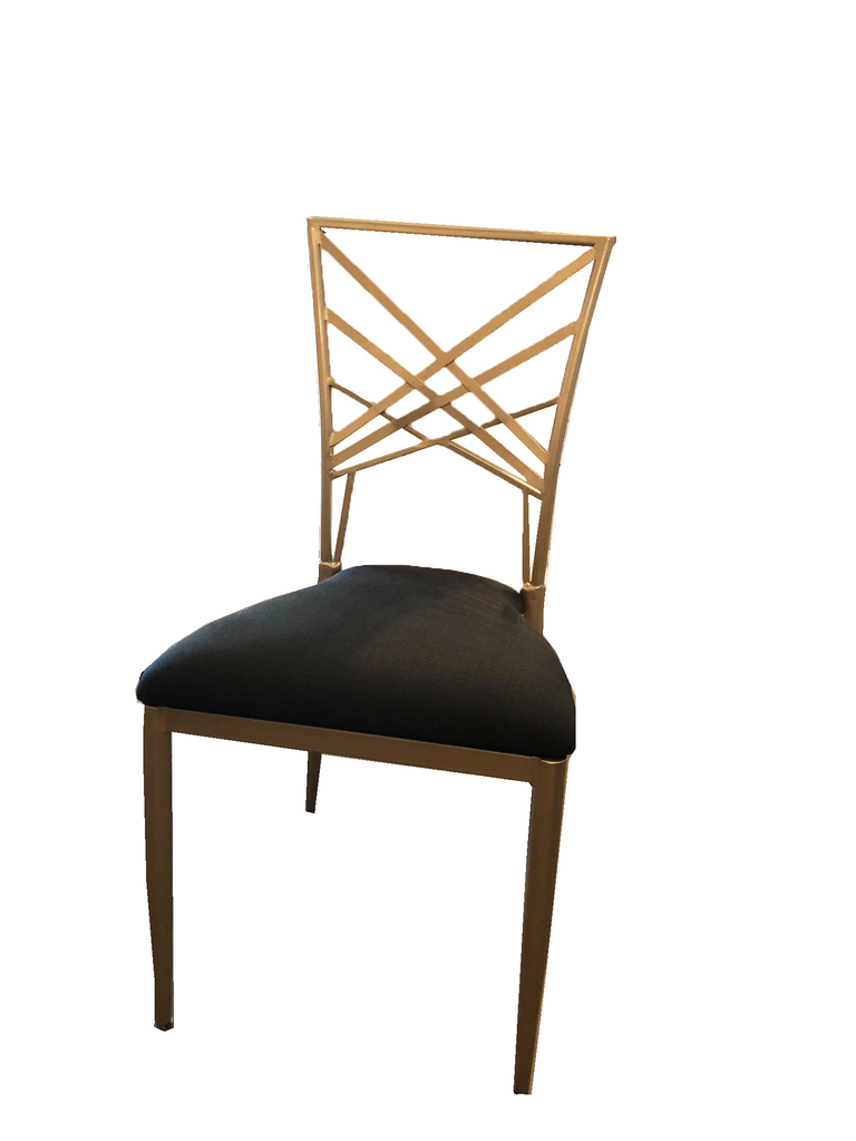 chair, chairs, chairs for rent, rental items, furniture for rent, event planning, ooh events, gold metal chair, gold metal dining chair, champagne gold metal chair