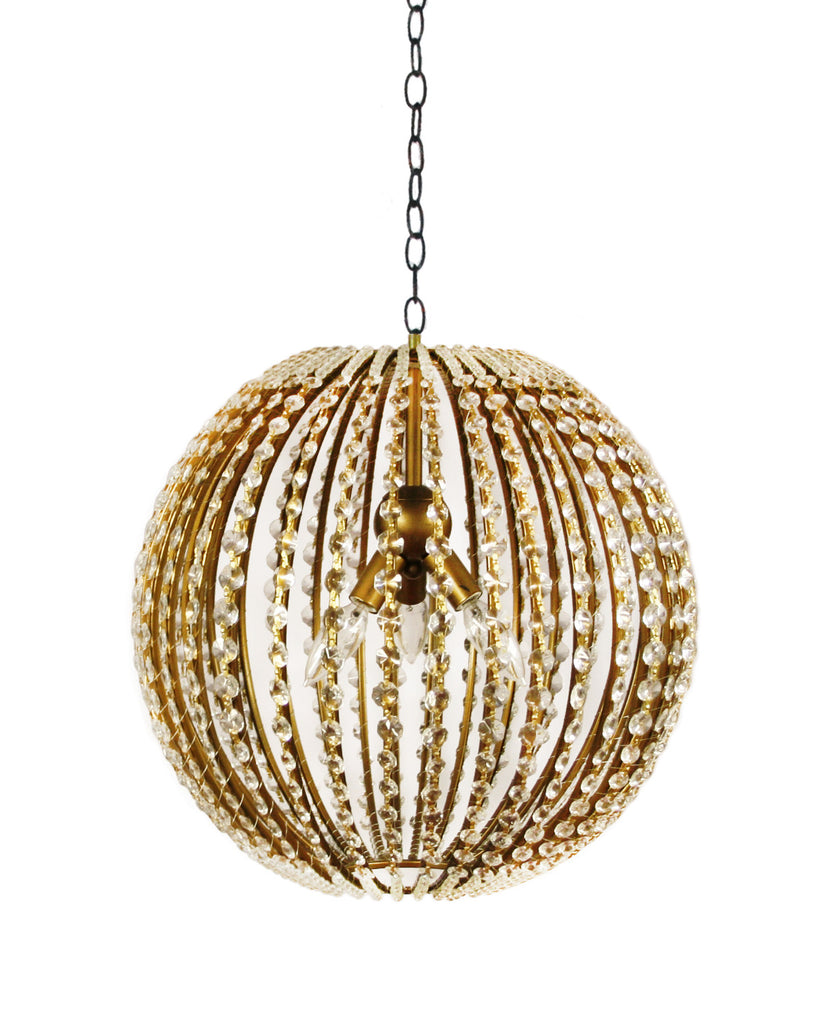Gold Ball Chandelier