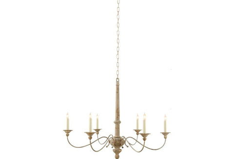 Country Chandelier in Belgian White