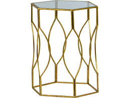 Georgette Side table, gold side table, side table georgette, gold and glass table, art deco table, lattice metal table, ooh events, event rentals, charleston event rentals