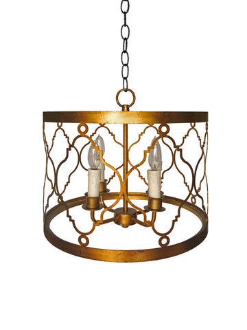 Petite Gold Lattice Drumshade