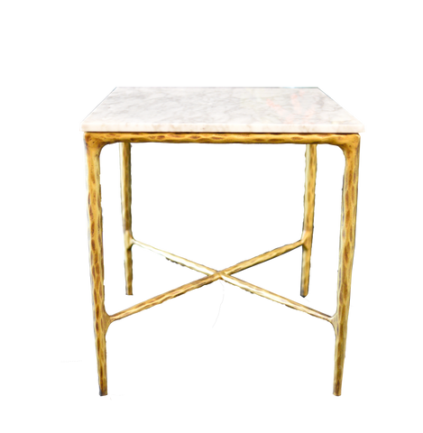Gold and Marble Side Table