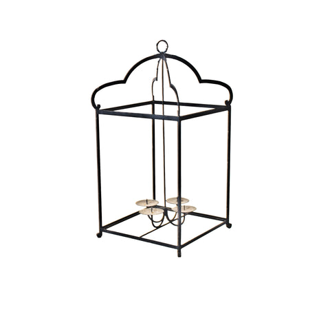 Hanging Black Iron Scalloped Lantern