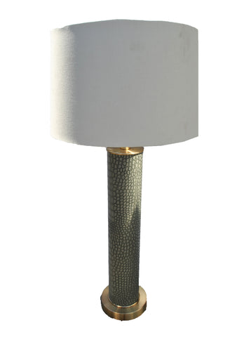 Alligator Grey Pattern Lamp