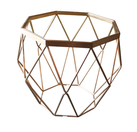 Shelia geometric side table, geometric table, modern side table, metal table