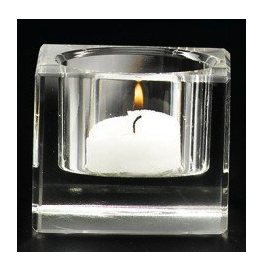 Square Crystal Tealight Holder