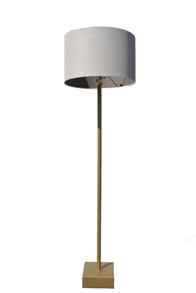 Gold Floor Lamp w/ Square Bottom
