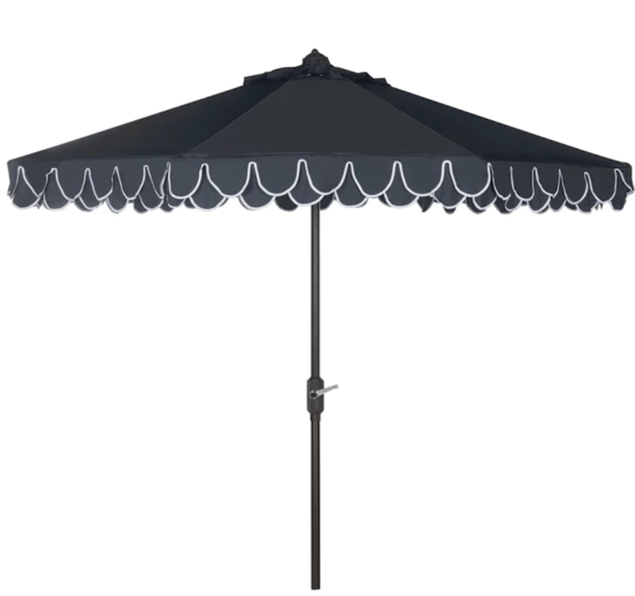 Navy Umbrella with White Trim