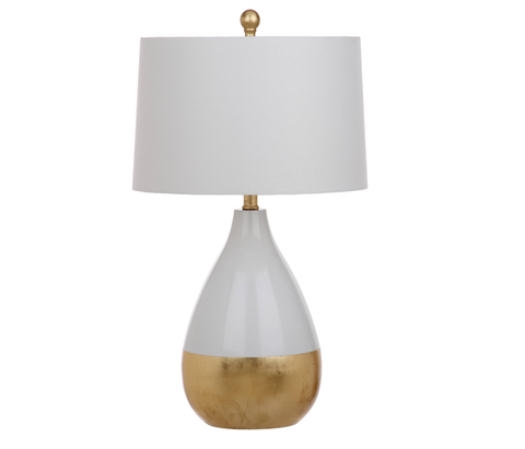 White and Gold Dipped Lamp