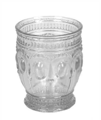 Embossed Drinking Glass Votive Holder
