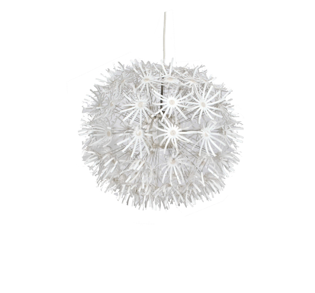White Paper Burst Chandelier
