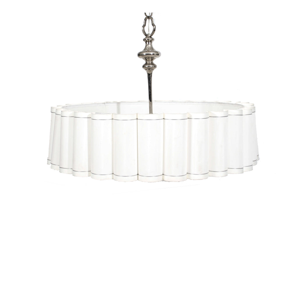 White Ruffled Drumshade