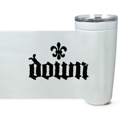 DOWN fleur de lis Viking Tumblers (Black, White, Steel)