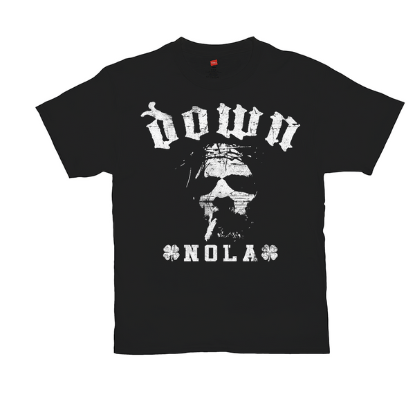DOWN Smoking Jesus Nola Black Tee