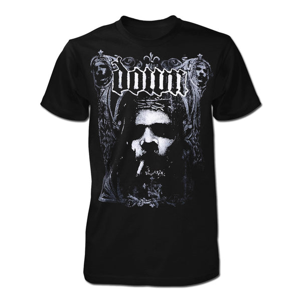 Gothic Smoking Jesus T-Shirt - X-Large