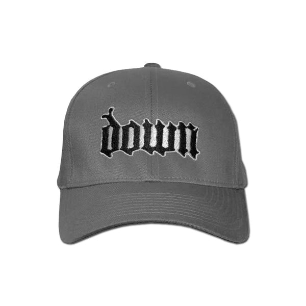 DOWN Grey Flex-Fit Cap-Medium