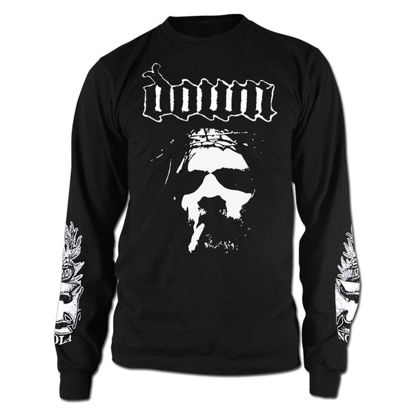 DOWN Smoking Jesus Long Sleeve with Sleeve Print-Small