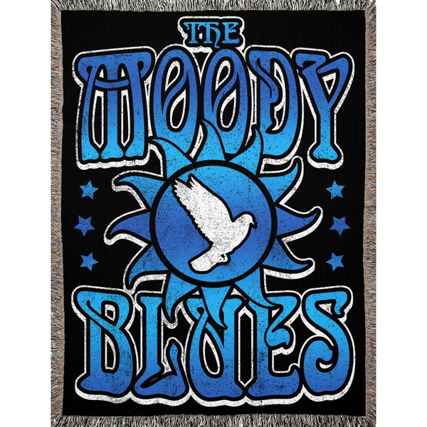 "Moody Blues ""Dove"" Woven Blankets"