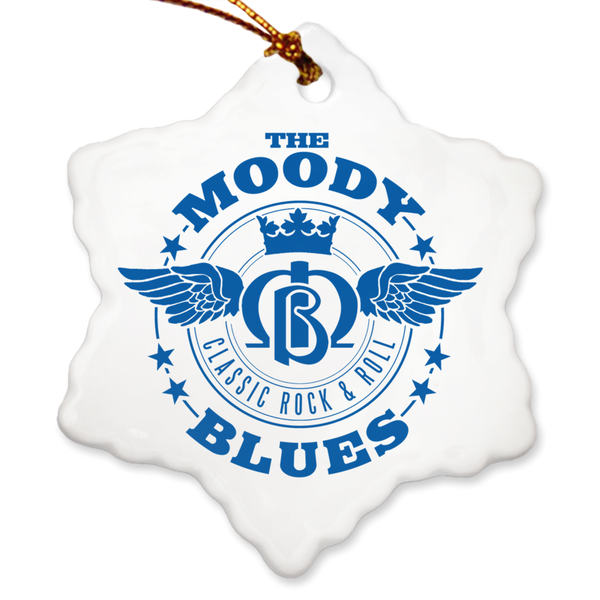 Moody Blues Wings Logo Porcelain Ornaments